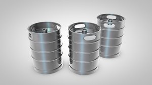 beer kegs 3d model
