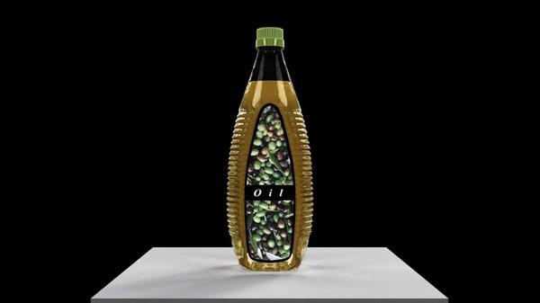 3d model oil bottle