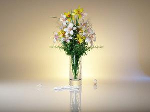 3ds lily vase colors