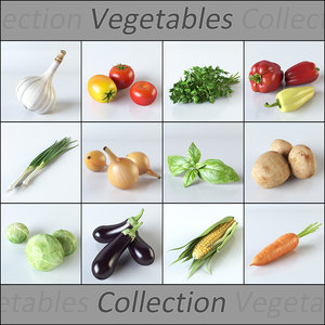 3d realistic vegetables