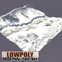 snowy level games 3d model