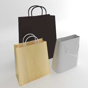 3ds max 3 shopping bag