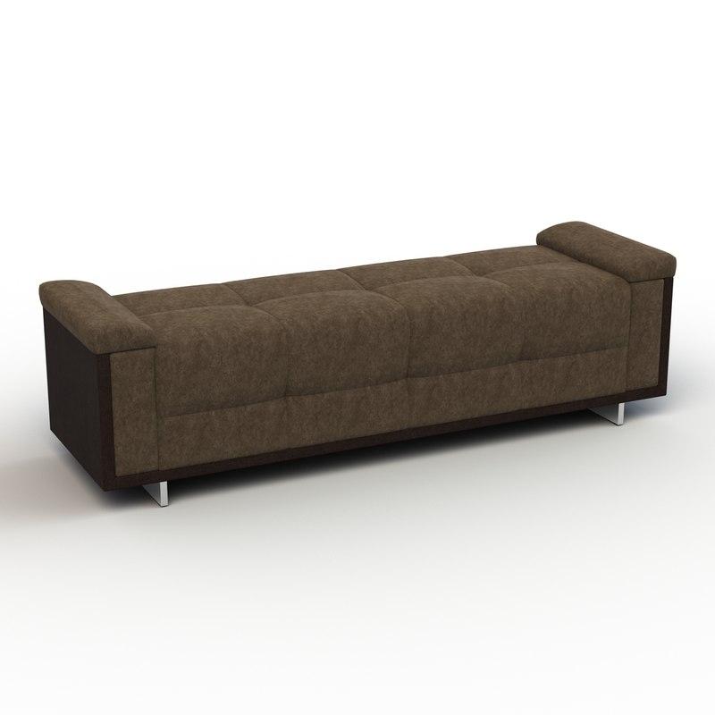 3d model of troscan kloss bench