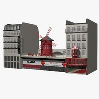 3d model moulin-rouge building