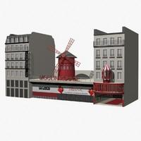 3d model moulin-rouge building