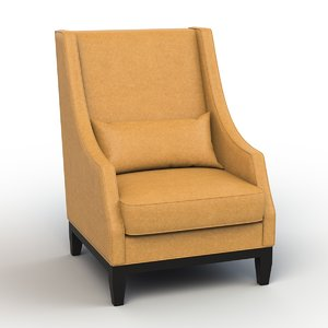 3d christian lummi wing chair model