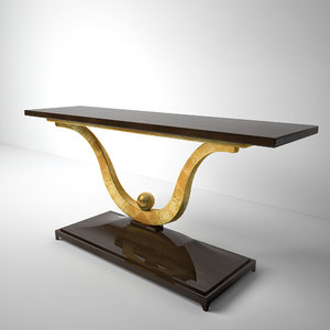 3d max fontaine console-christopher guy