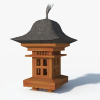 Bali teak garden lamp