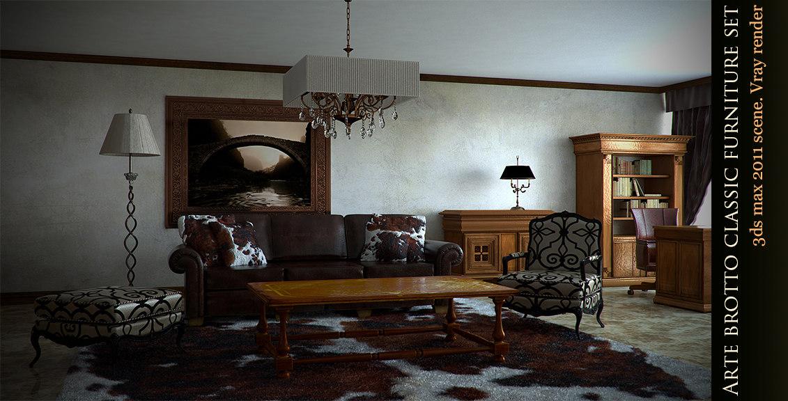 arte brotto furniture 3d max