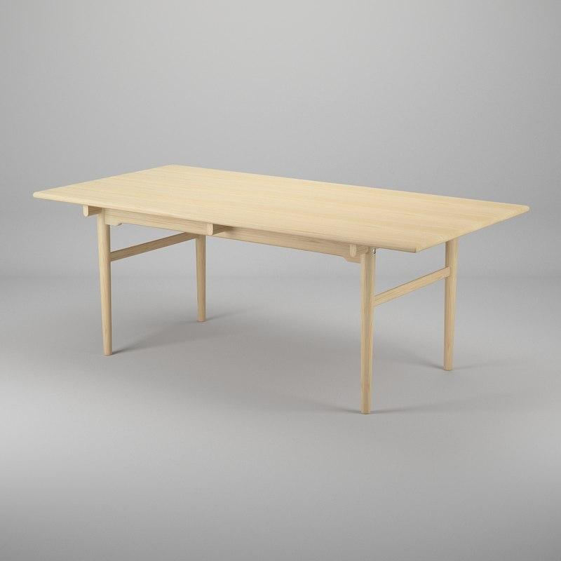 3d model table hans j wegner
