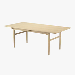 3d model table hans j wegner