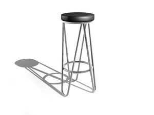 3d model breuer bar stool
