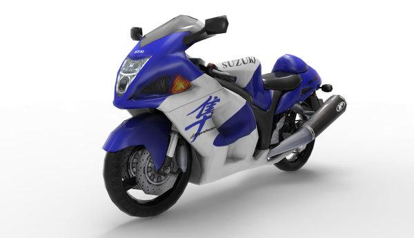 3d hayabusa bike
