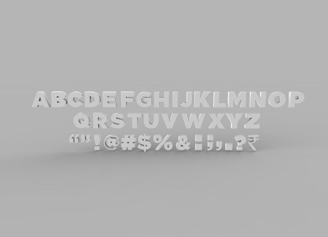 3d symbols letters