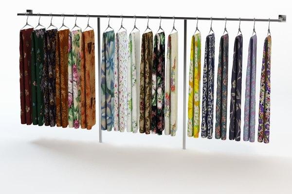 scarf cloth 3ds