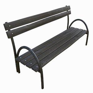 old street bench 3d model