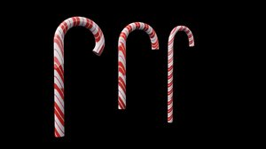 christmas candy cane 3d max