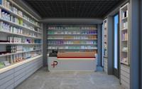 Cena de loja de farmácia
