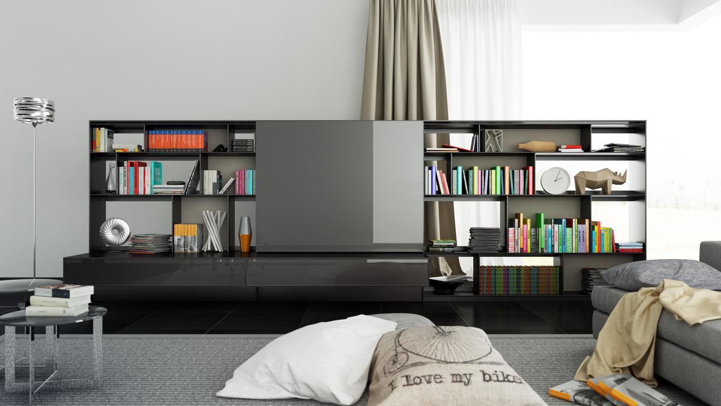 b bookcase 2 - 3d c4d