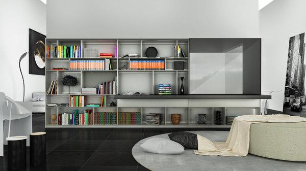 b bookcase 3 - c4d