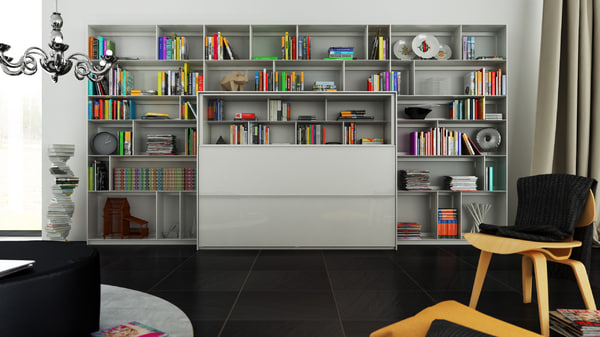 3d model of b bookcase 5 -