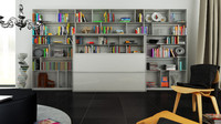 3d model of b bookcase 5 -