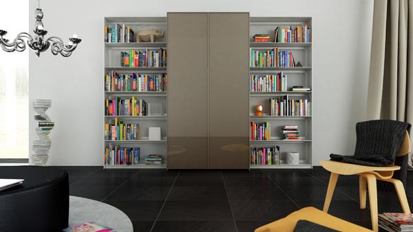 3d b bookcase 6 -