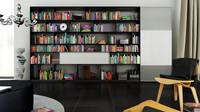 3d model b bookcase 8 -