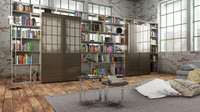 3d model b bookcase 7 -