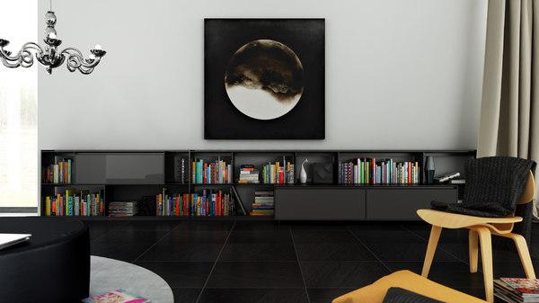 c4d b bookcase 9 -
