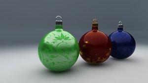 3d model christmas ornaments decorating xmas
