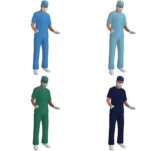 3d rigged surgeon
