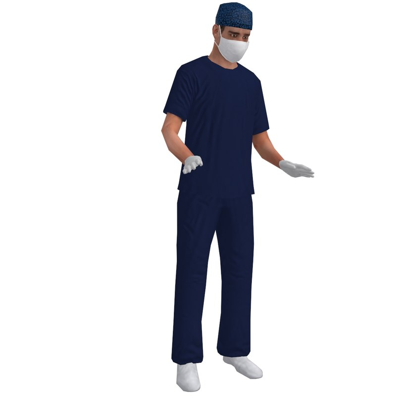 3d model rigged surgeon