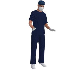 3d model rigged surgeon