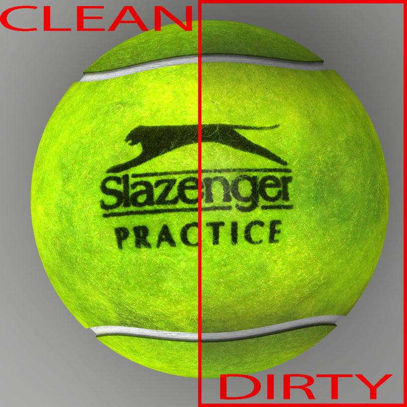 3dsmax tennis ball slazenger