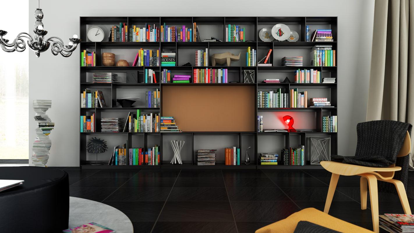 cinema4d b bookcase 10 -