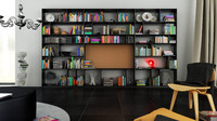 cinema4d b bookcase 10 -