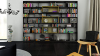 b bookcase 12 - 3d c4d