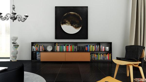 c4d b bookcase 15 -