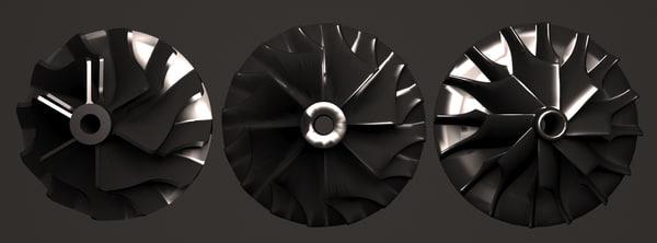 3d model impellers