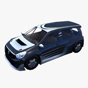 3d model dacia lodgy car