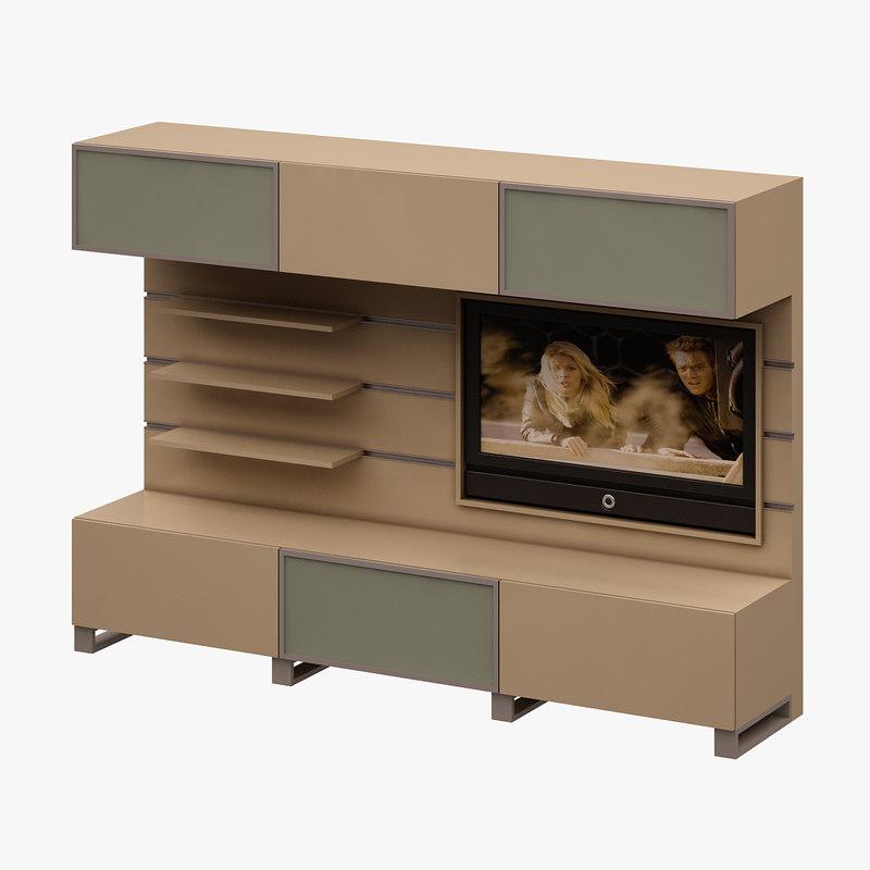 3d model tv unit
