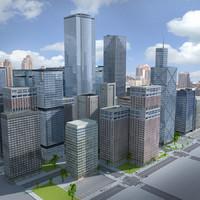 3d model city building new york