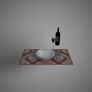dining v-ray object 3ds