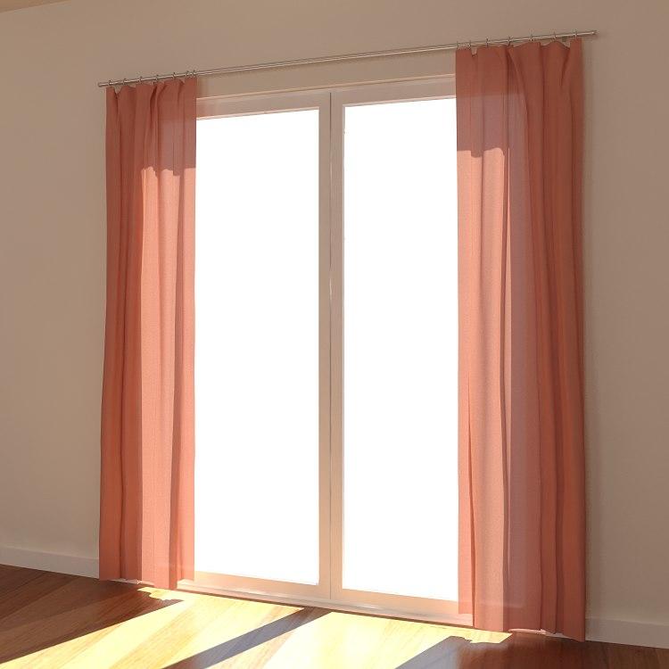 curtain fabric interior 3d model