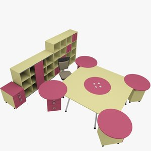 3ds max rack office table