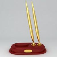 classic pen holder 3d model