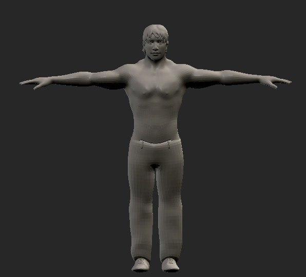 3d model of male character
