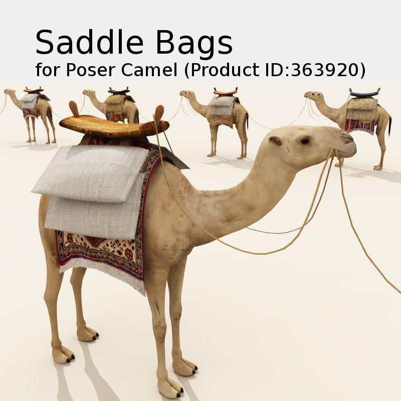saddle bag poser prop 3d model