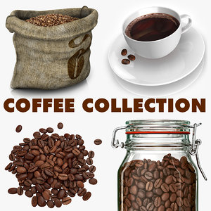 coffee modeled beans dxf